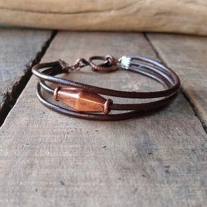 *Leather cord bracelet